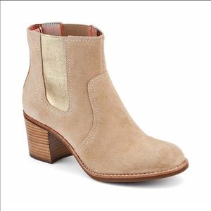 Sperry Marlow Suede Ankle Boot with gold shimmer